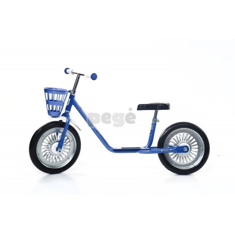 Balansinis dviratukas MINI SPARITE mėlynas su juodais ratais