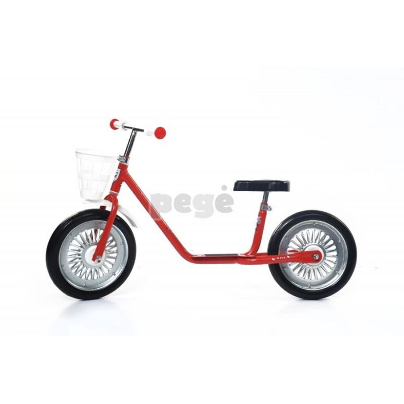 Balansinis dviratukas MINI SPARITE raudonas su juodais ratais