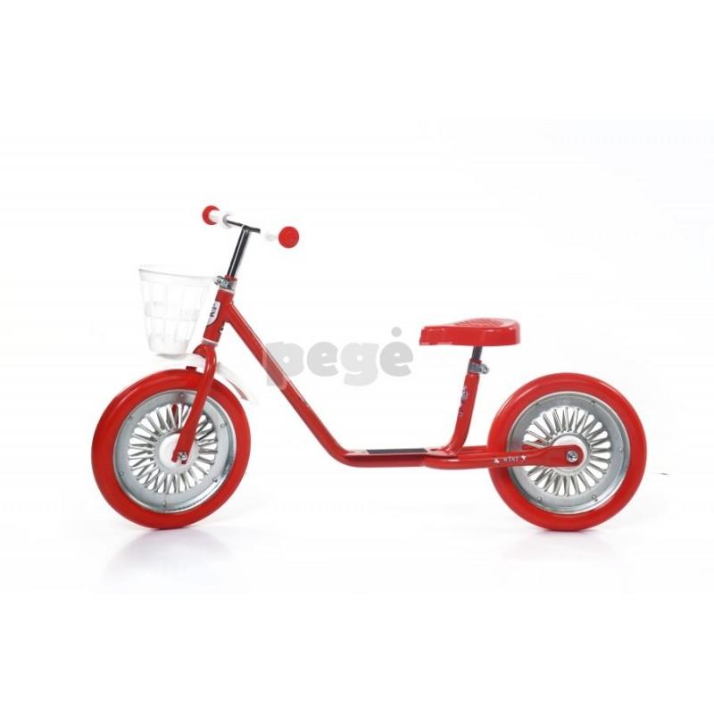 Balansinis dviratukas MINI SPARITE raudonas su raudonais ratais