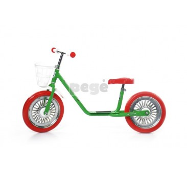 Balansinis dviratukas MINI SPARITE  žalias su raudonais ratais