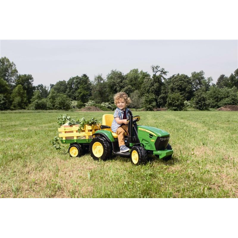 Elektromobilis PEG PEREGO JOHN DEERE GROUND FORCE 12V su priekaba