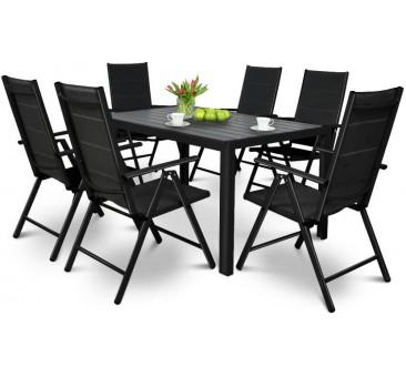 Lauko baldų komplektas SIDNĖJUS  BLACK