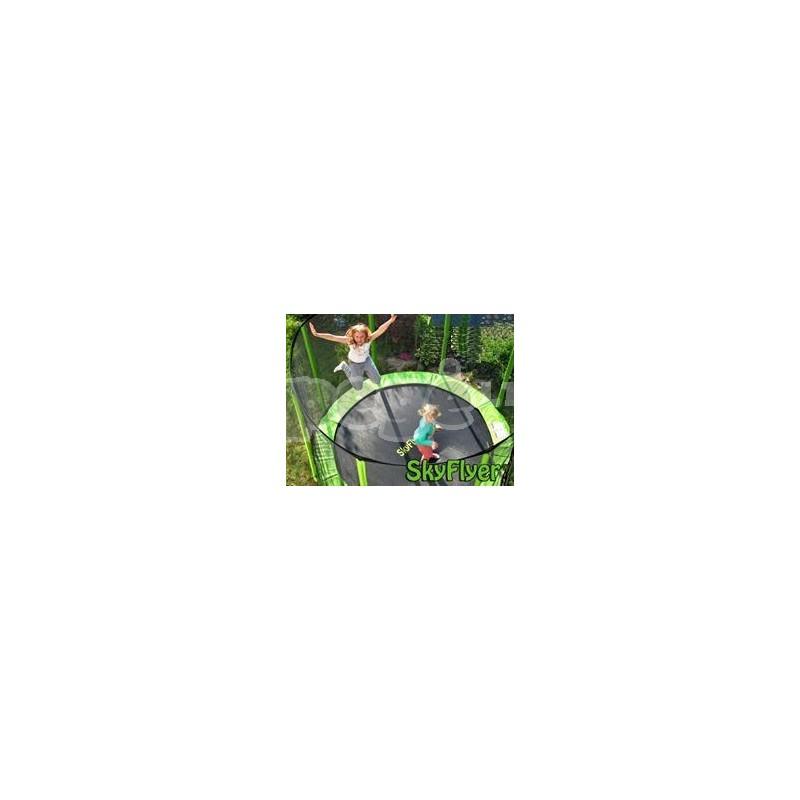 Batutas 304 cm 10FT FLEYR žalias + tinklas