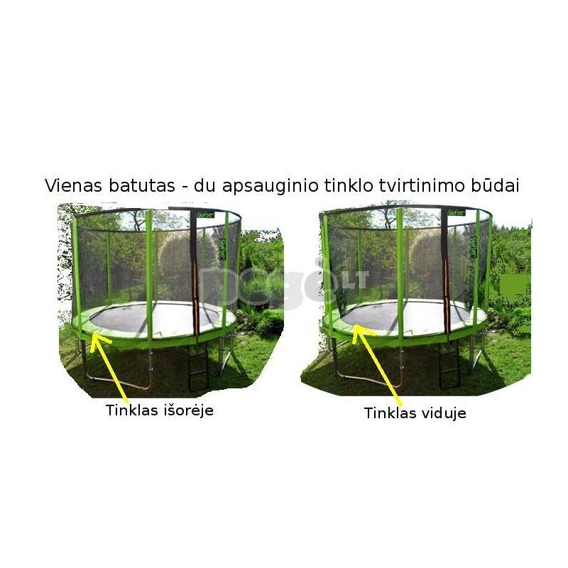 Batutas 366 cm 12FT FLEYR žalias + tinklas