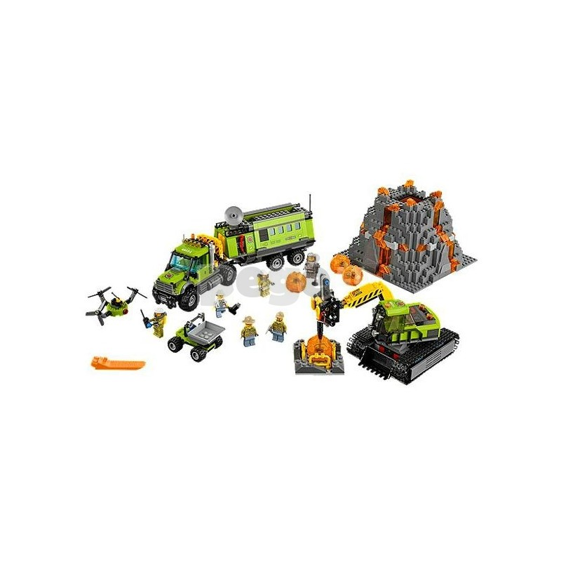 LEGO konstruktorius VOLCANO EXPLORATION BASE 60124