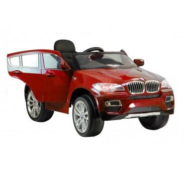 Elektromobilis BMW X6 raudonas lakuotas 12V