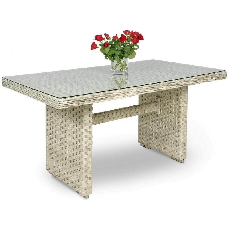 Pinti lauko baldai TRAVENTO 3 DINING MELANGE WHITE