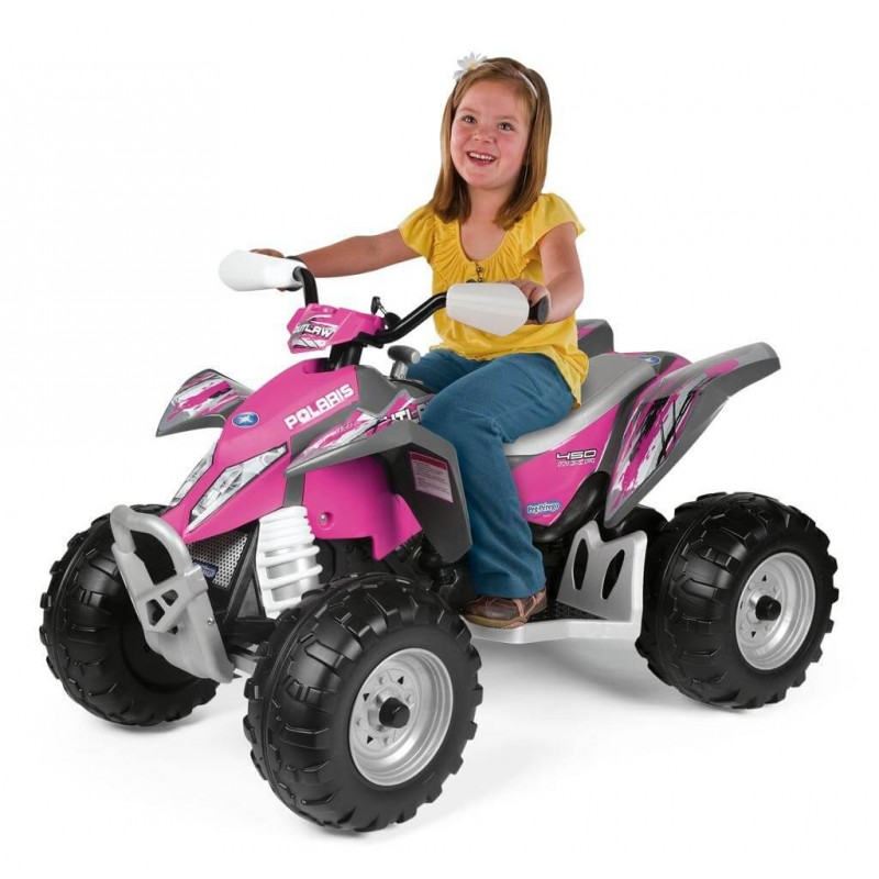 Elektromobilis PEG PEREGO POLARIS OUTLAW PINK POWER 12 V