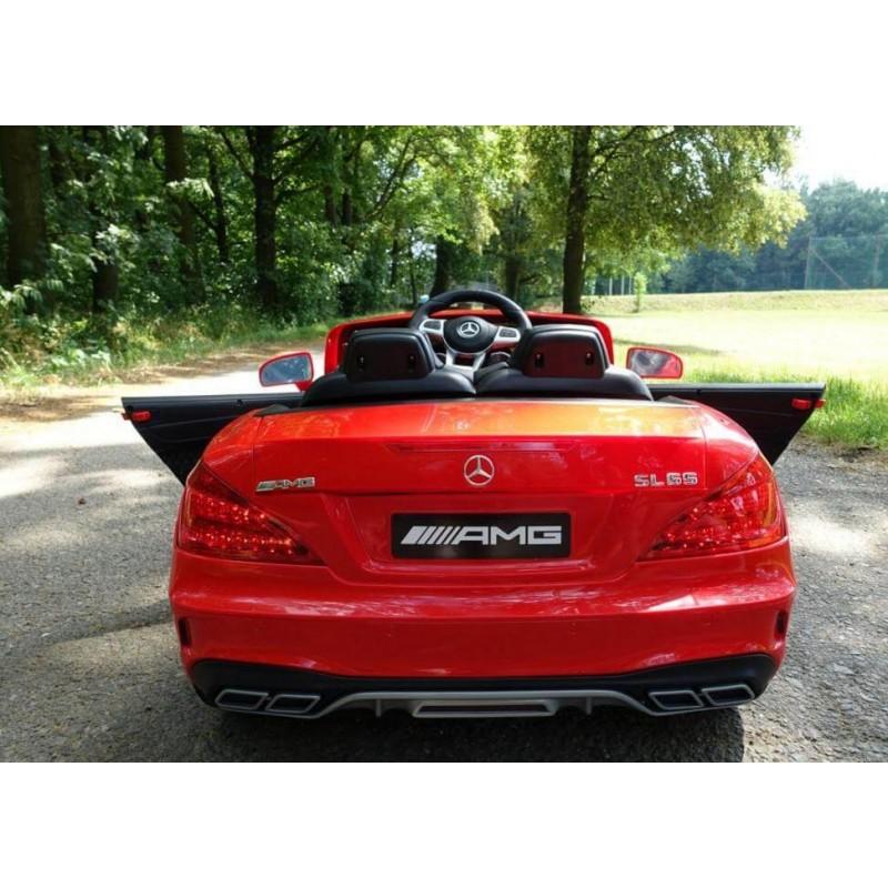 Elektromobilis MERCEDES SL65 AMG raudonas