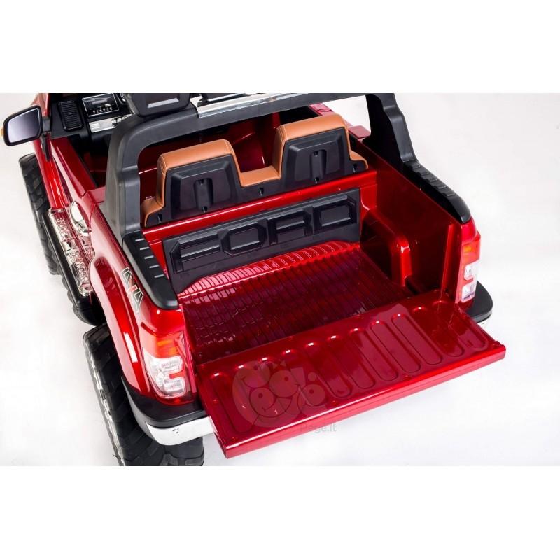 Elektromobilis FORD 4x4, 2x12 V su LCD ekranu raudonas