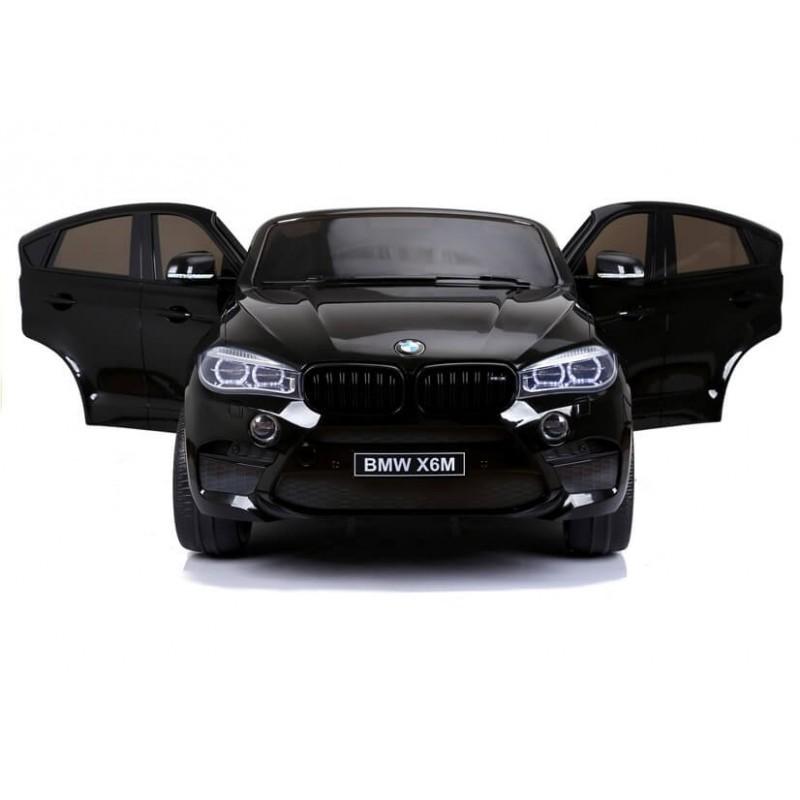 Dvivietis elektromobilis BMW X6M juodas 12V