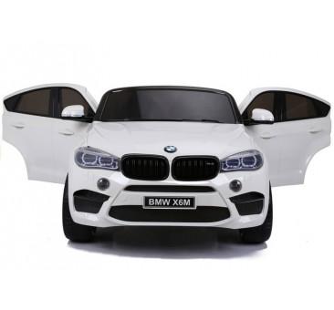Dvivietis elektromobilis BMW X6M baltas 12V