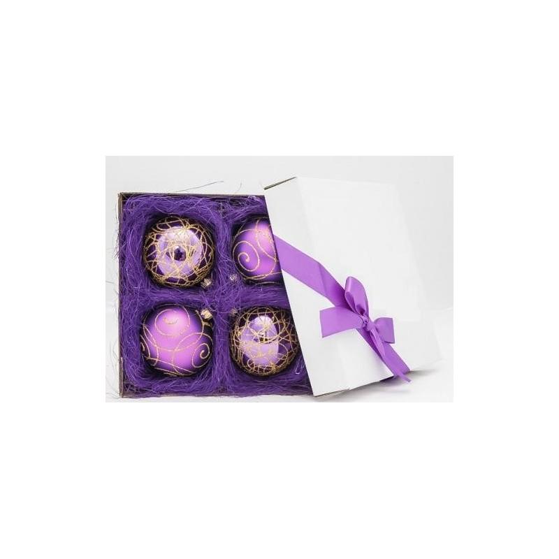 Violetinis žaisliukų rinkinys 01 8 cm