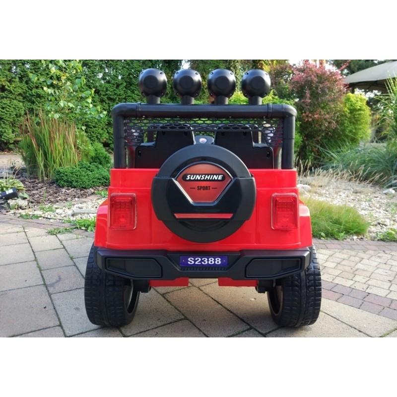 Elektromobilis JEEP S2388 raudonas