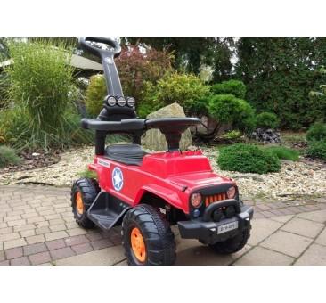 Mašinėlė su akumuliatoriumi JEEP raudona