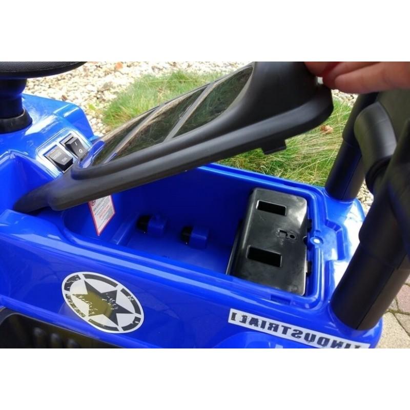Mašinėlė su akumuliatoriumi JEEP mėlyna