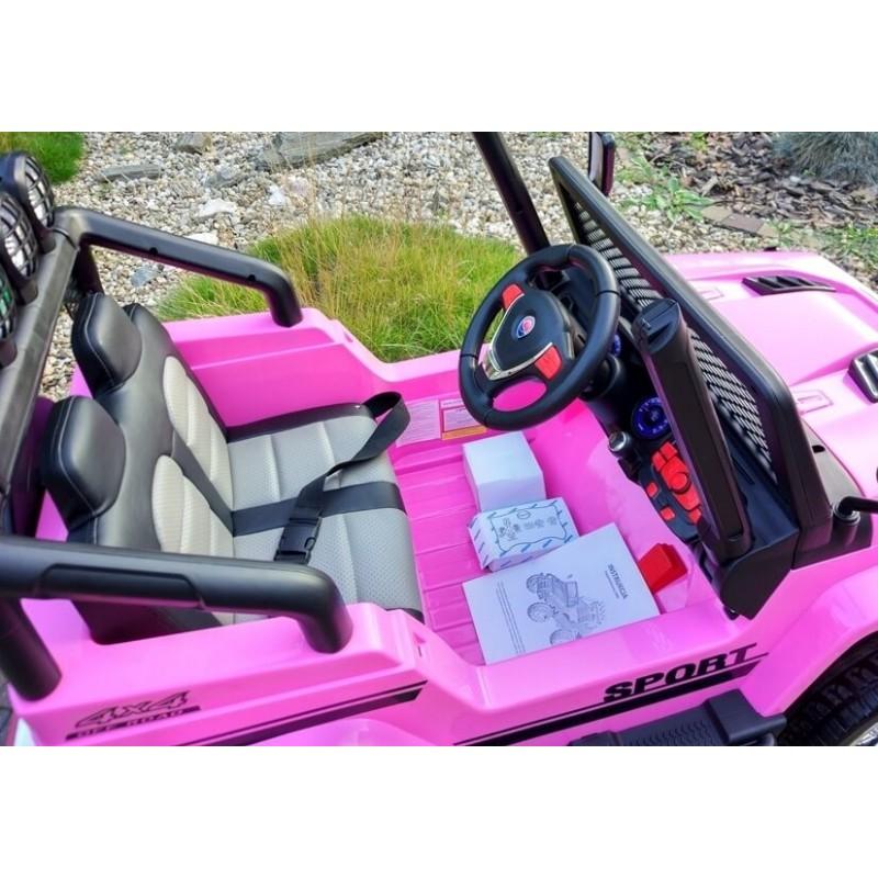 Elektromobilis JEEP S2388 rožinis