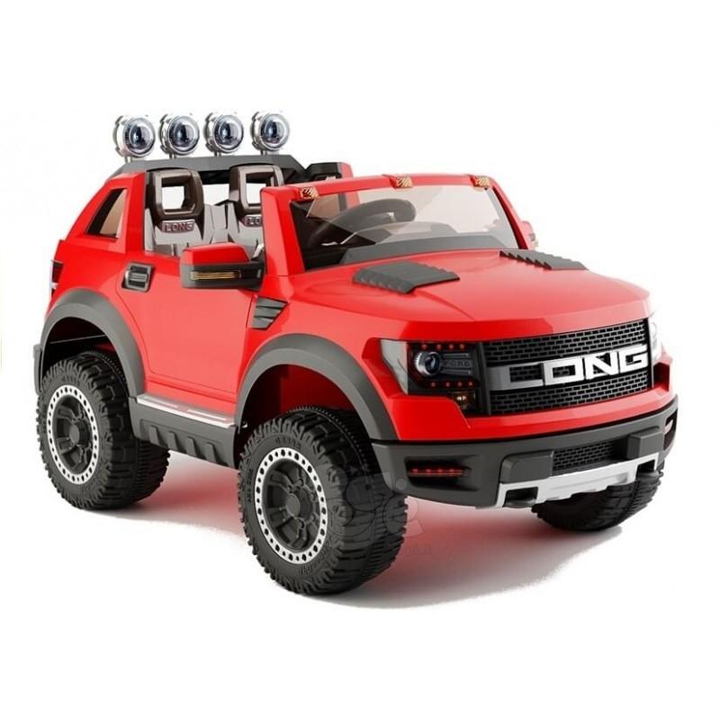 Elektromobilis JEEP RAM LONG 12V raudonas