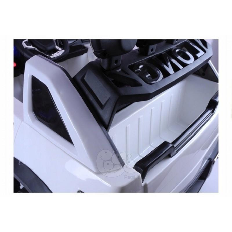Elektromobilis JEEP RAM LONG 12V baltas