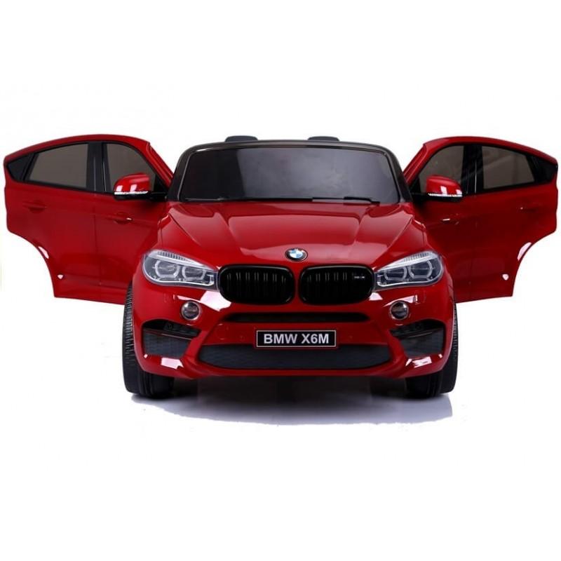 Dvivietis elektromobilis BMW X6M raudonas lakuotas 12V