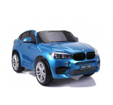 Dvivietis elektromobilis BMW X6M mėlynas lakuotas 12V
