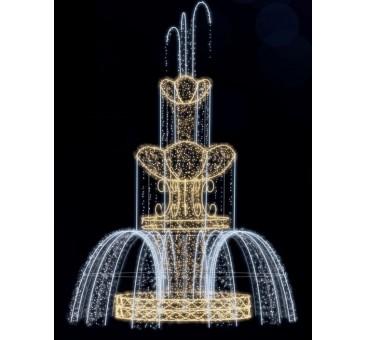 Dekoracija 3D LED fontanas 650x475 , 1988