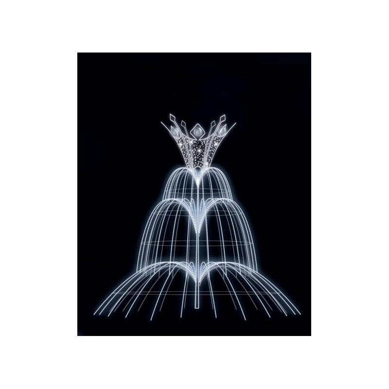 Dekoracija 3D LED fontanas 400x400 , 1984
