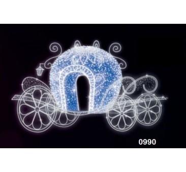 3D LED dekoracija karieta 0990