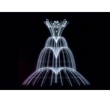 Dekoracija 3D LED fontanas 400x400 , 1983