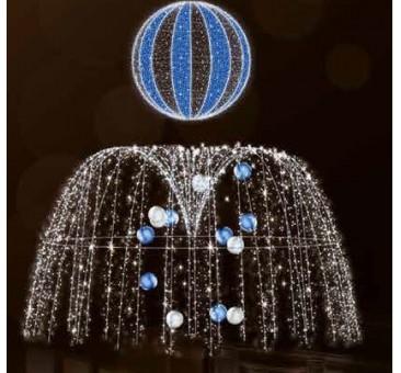 Dekoracija 3D LED fontanas 250x250 cm, 2970