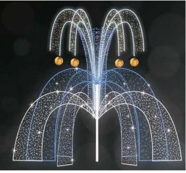 Dekoracija 3D LED fontanas 400x350 , 2974