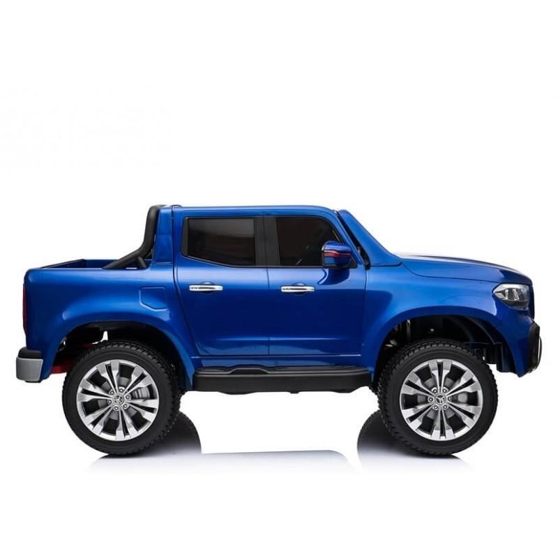 Elektromobilis MERCEDES X mėlynas lakuotas 4X4, 2X12V