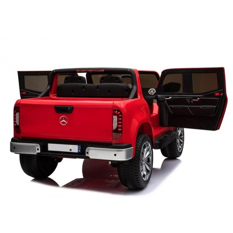 Elektromobilis MERCEDES X raudonas 4X4, 2X12V