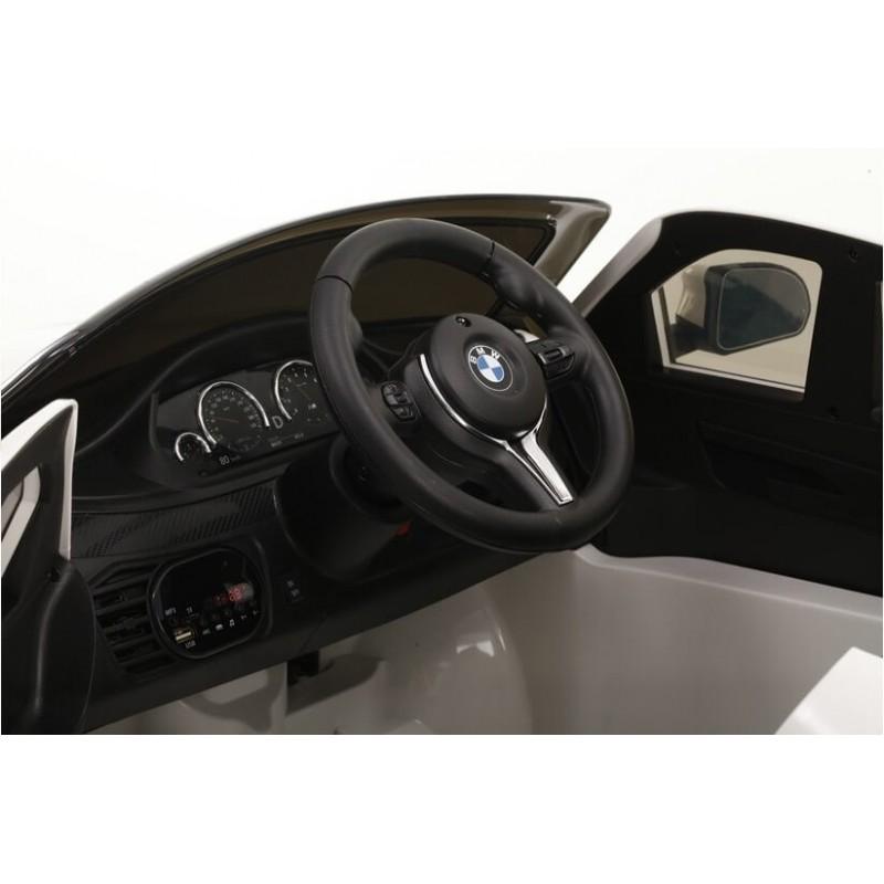Elektromobilis BMW X6M raudonas vienvietis