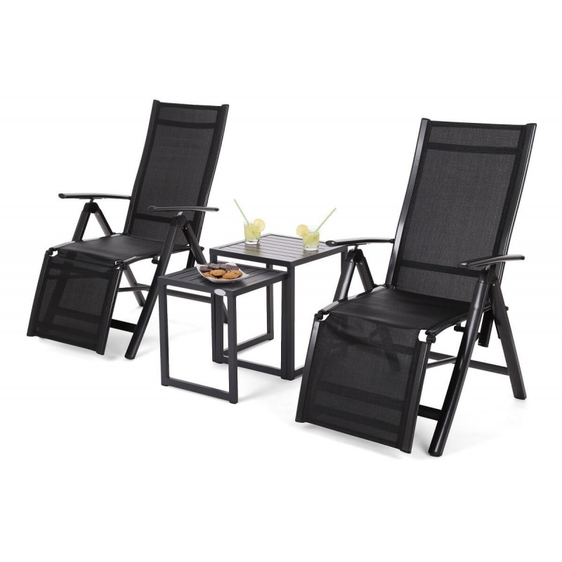 Lauko gultai BILIZA BLACK + staliukai