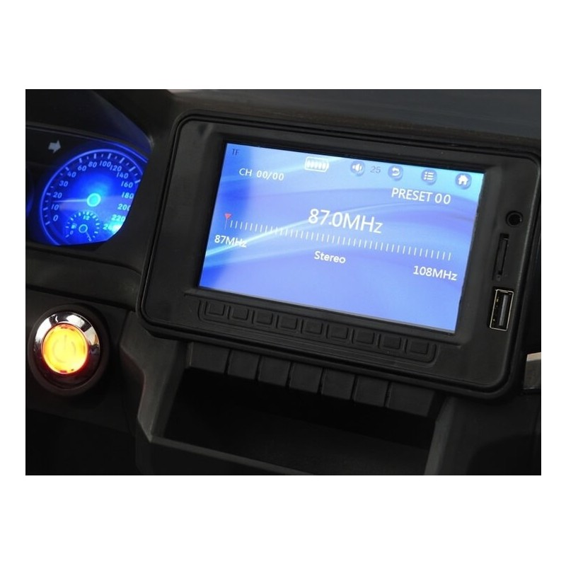 Elektromobilis VOLKSWAGEN AMAROK 4x4 juodas 12 V su LCD ekranu