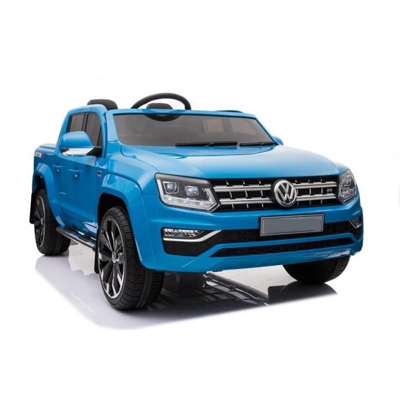 Elektromobilis VOLKSWAGEN AMAROK 4x4 mėlynas 12 V su LCD ekranu