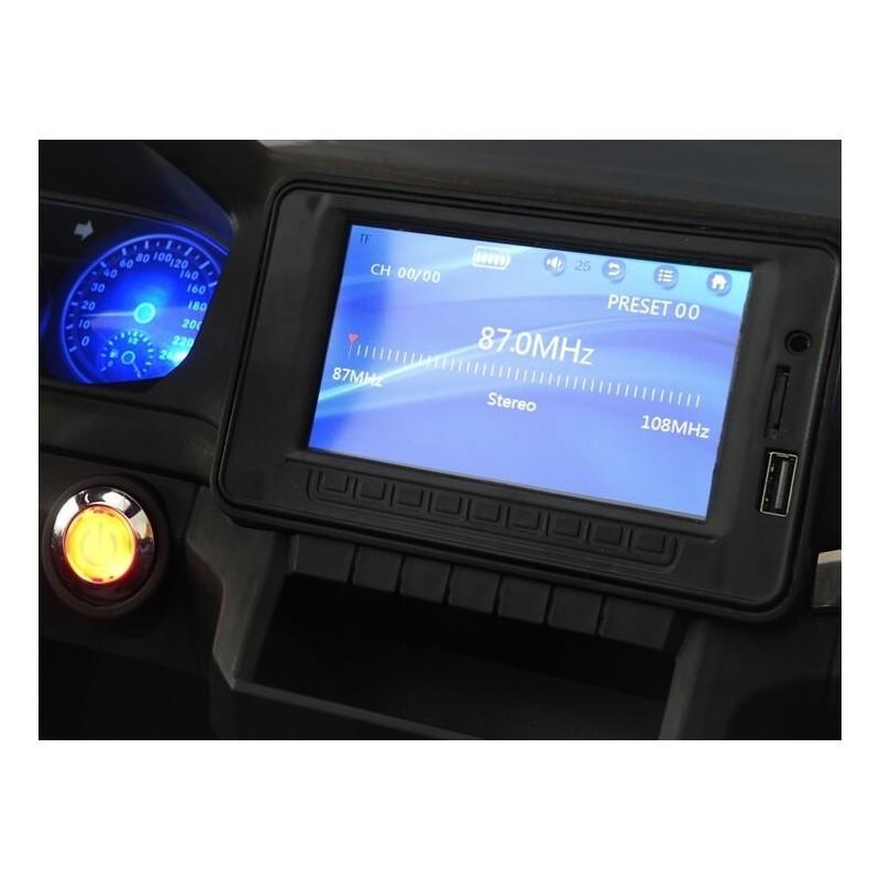 Elektromobilis VOLKSWAGEN AMAROK 4x4 baltas 12 V su LCD ekranu