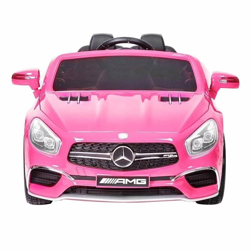 Elektromobilis MERCEDES SL65 AMG su LCD ekranu rožinis