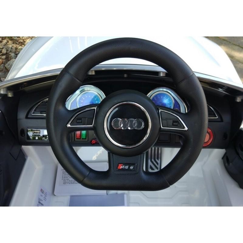 Elektromobilis AUDI RS5 baltas 12V