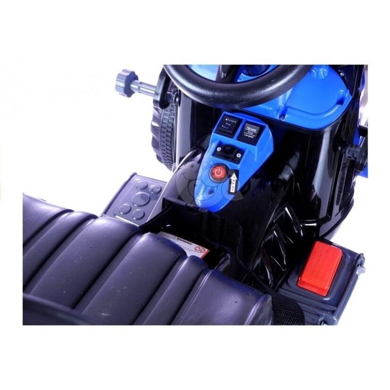 Traktoriukas - eskavatorius 2x6V mėlynas