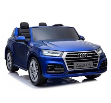 Elektromobilis AUDI Q5 dvivietis mėlynas lakuotas
