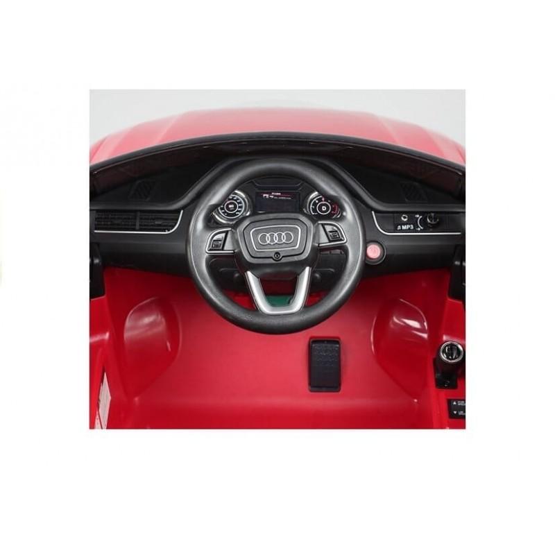 Elektromobilis AUDI Q7 raudonas 12 V su distanciniu