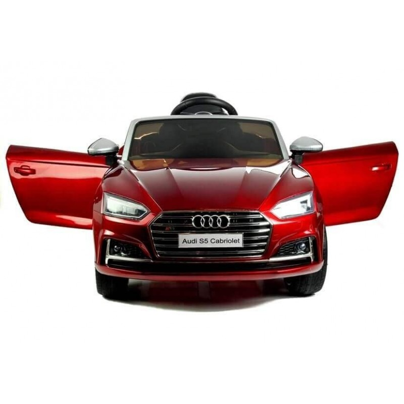 Elektromobilis AUDI S5 12V raudonas lakuotas