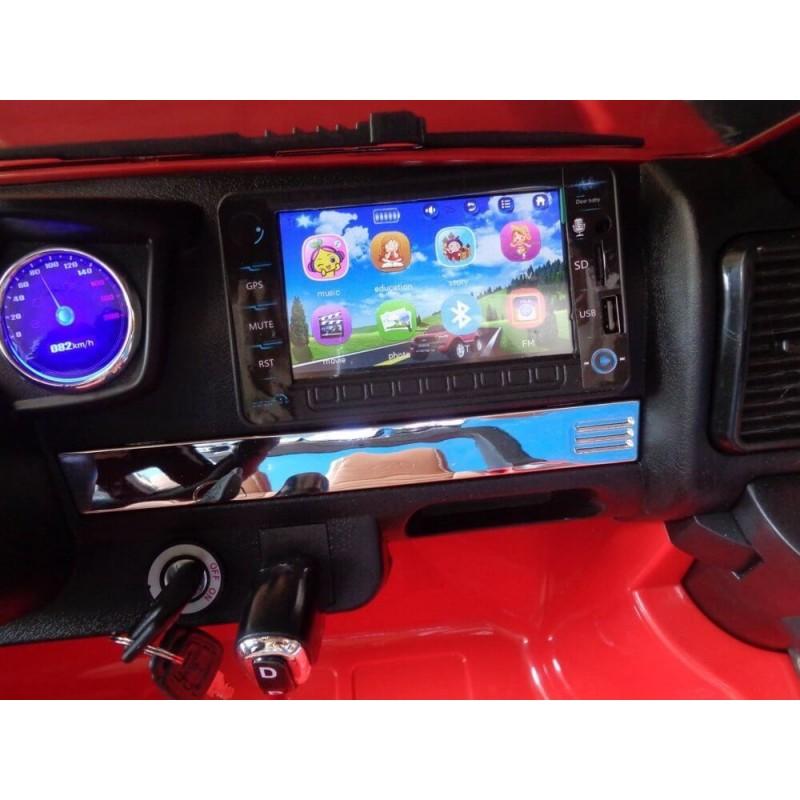 Elektromobilis FORD 4x4, 2x12 V su LCD ekranu raudonas lakuotas