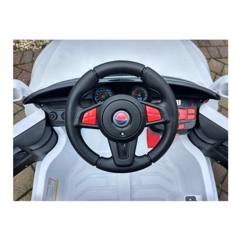 Elektromobilis CABRIO 2017 baltas su distanciniu valdymu