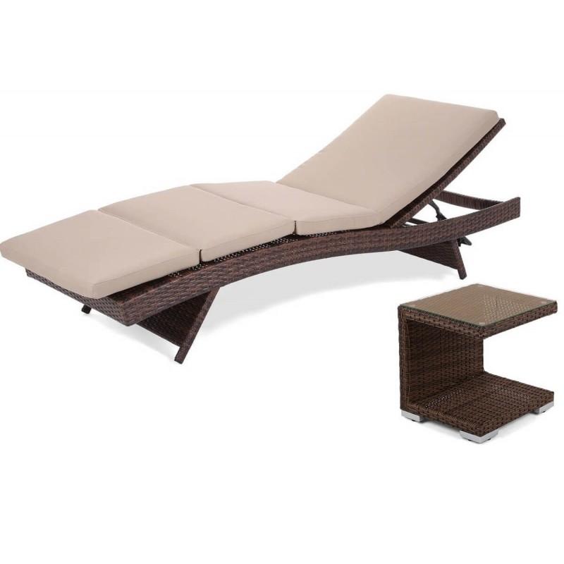 Lauko gultas NORA BROWN + staliukas