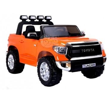 Elektromobilis TOYOTA TUNDRA 12V oranžinis su nuotoliniu valdymu