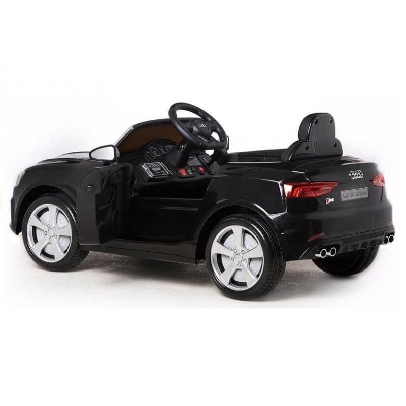 Elektromobilis AUDI S5 12V juodas lakuotas