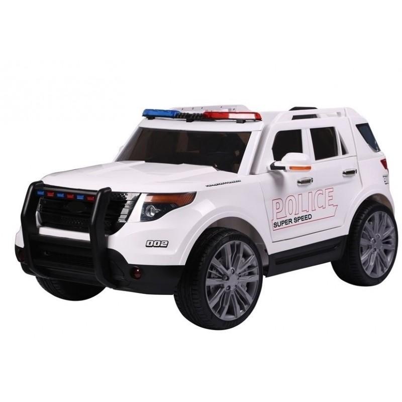 Elektromobilis POLICE baltas 12V